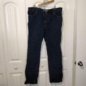 40x38 mid wash straight leg jeans denim